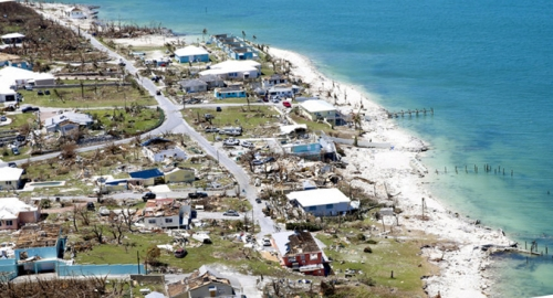 Abaco devastation aerial view.